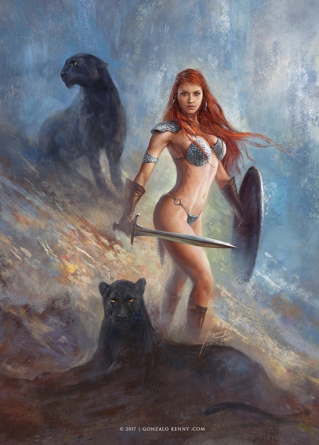 Red Sonja and the two Shadows