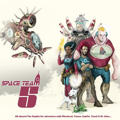 Gareth sleightholme space team five c with title