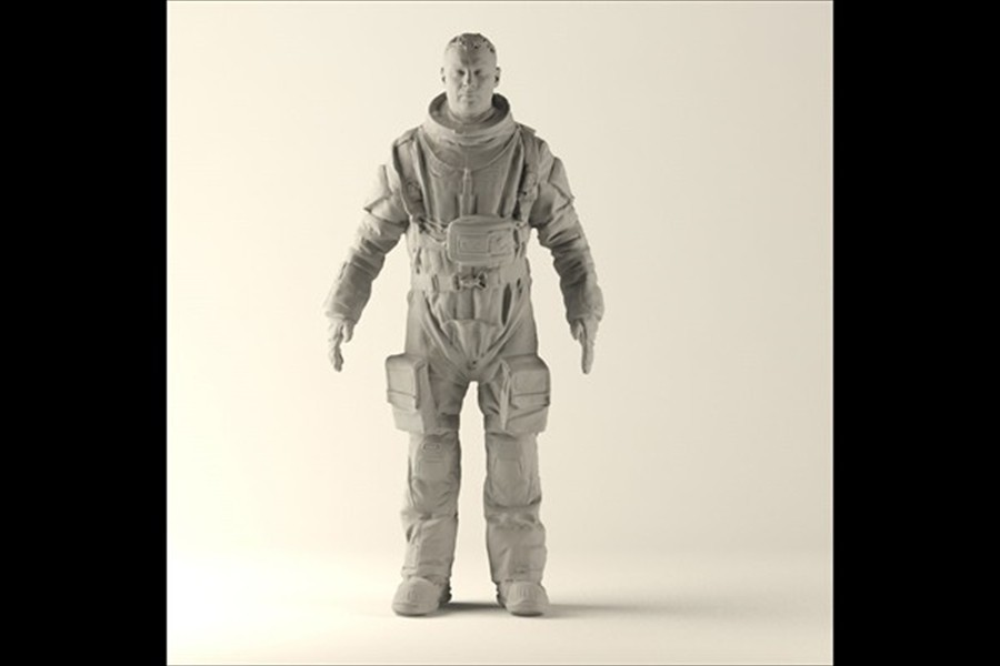 Liev Schreiber digital double  (Last days on Mars)  