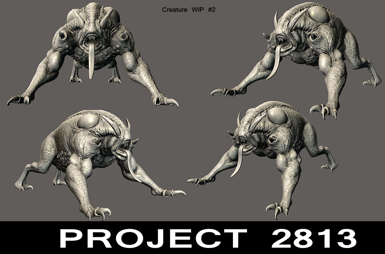 Creature for game for project 2813 studios