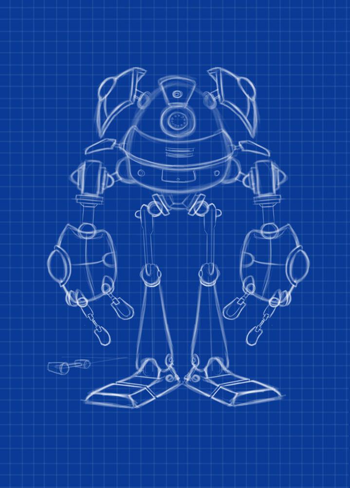 Robot design, front view