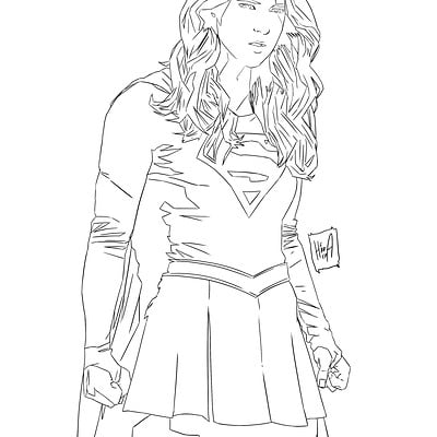 Manuel herrera araya supergirl sketch