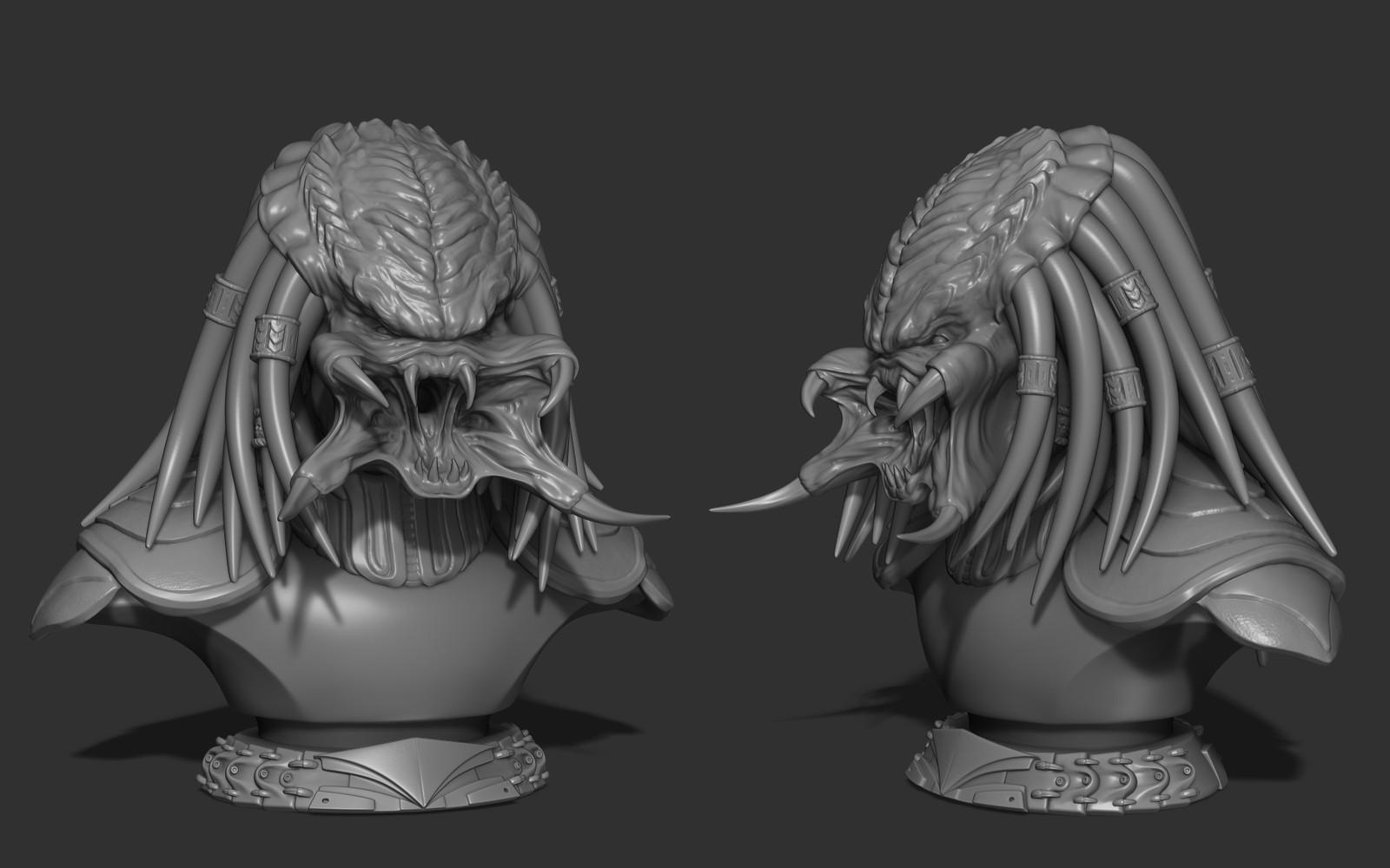 Predator Bust Sculpt