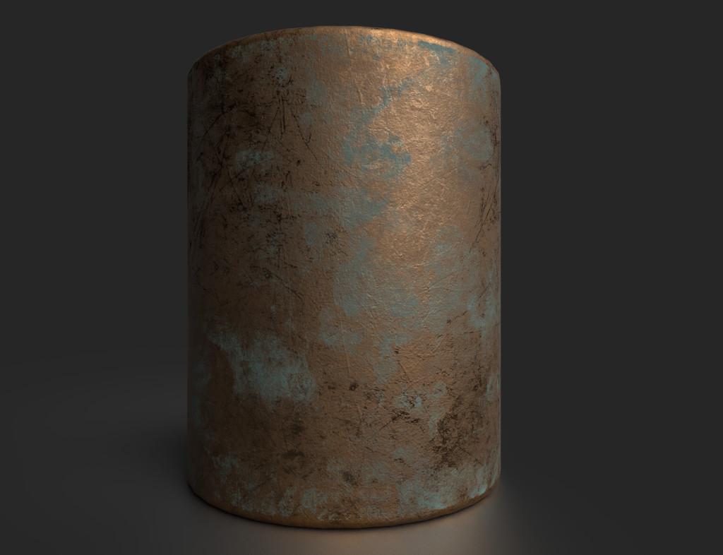 Turquoise Bronze Patina