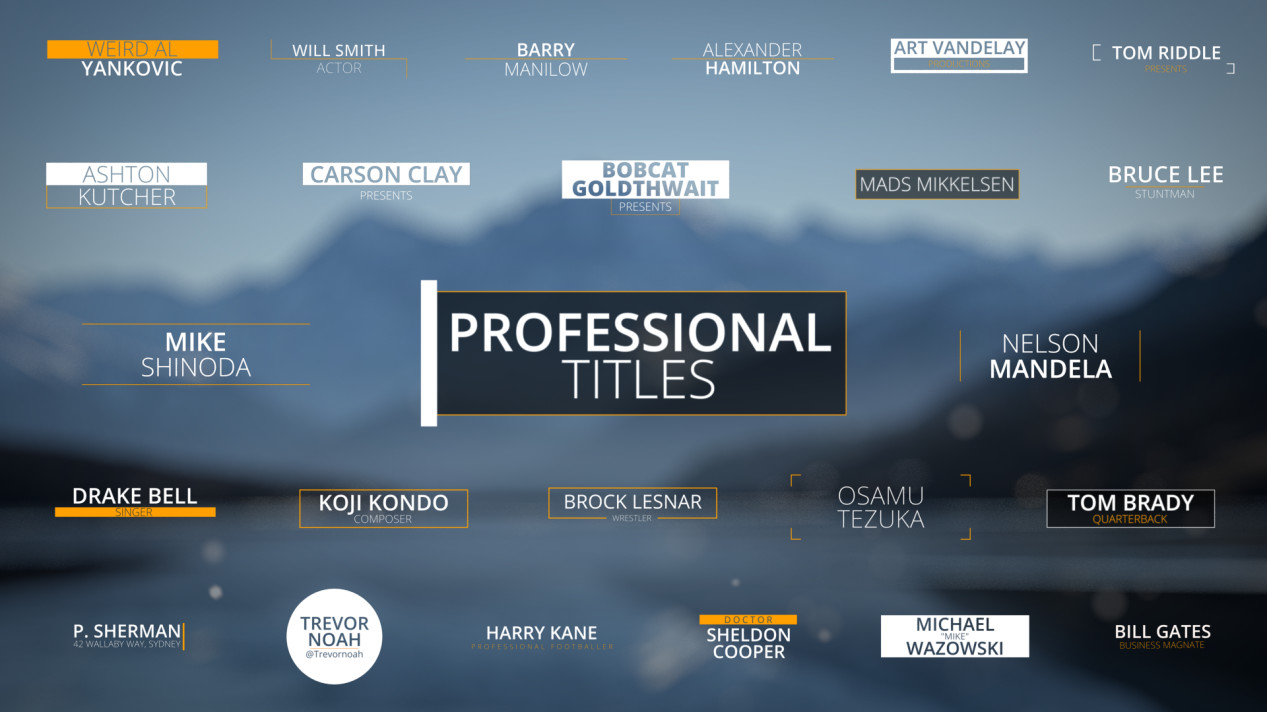 ArtStation - 25 Professional Titles for Blender, Vikrant Jadhav
