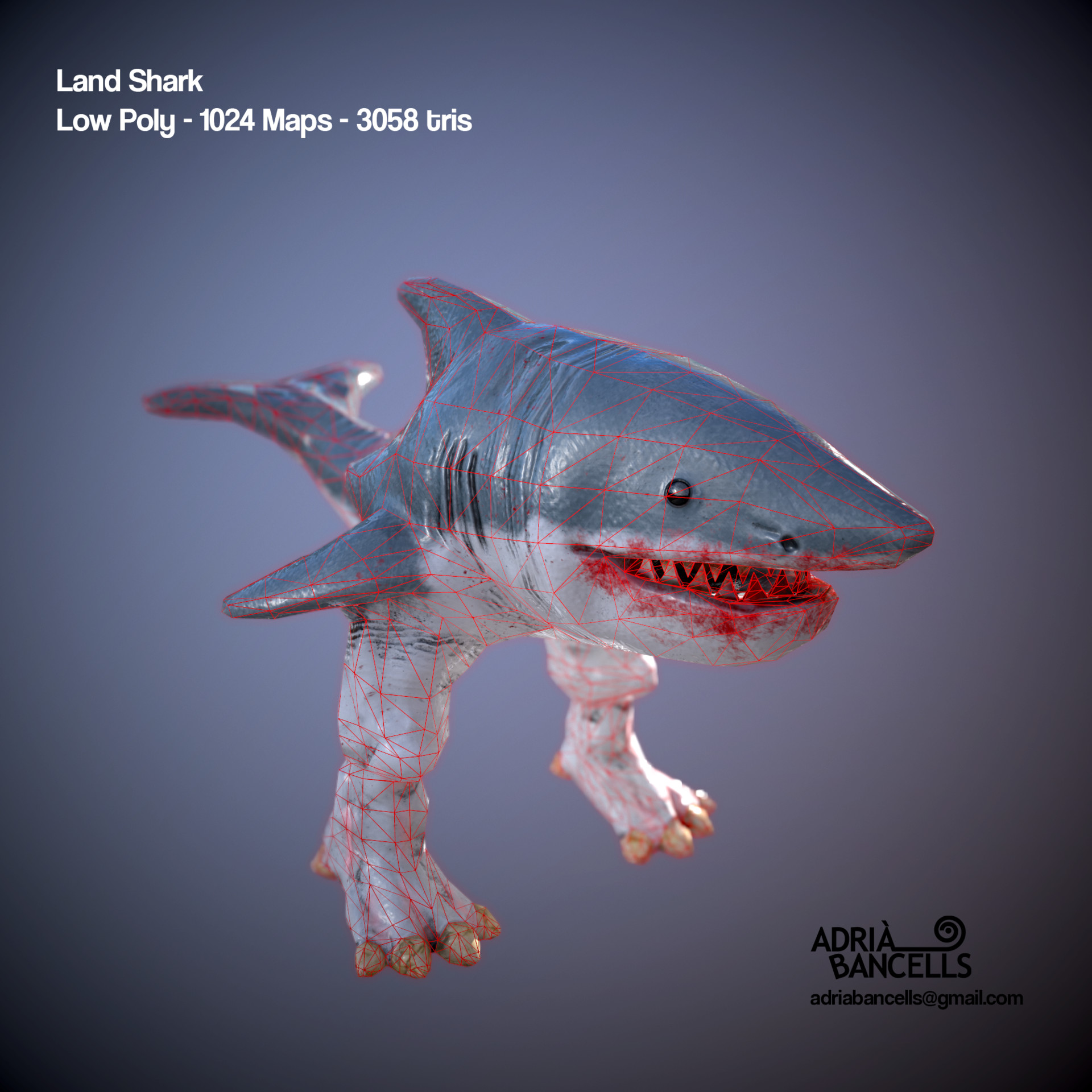 Land Shark Wireframe