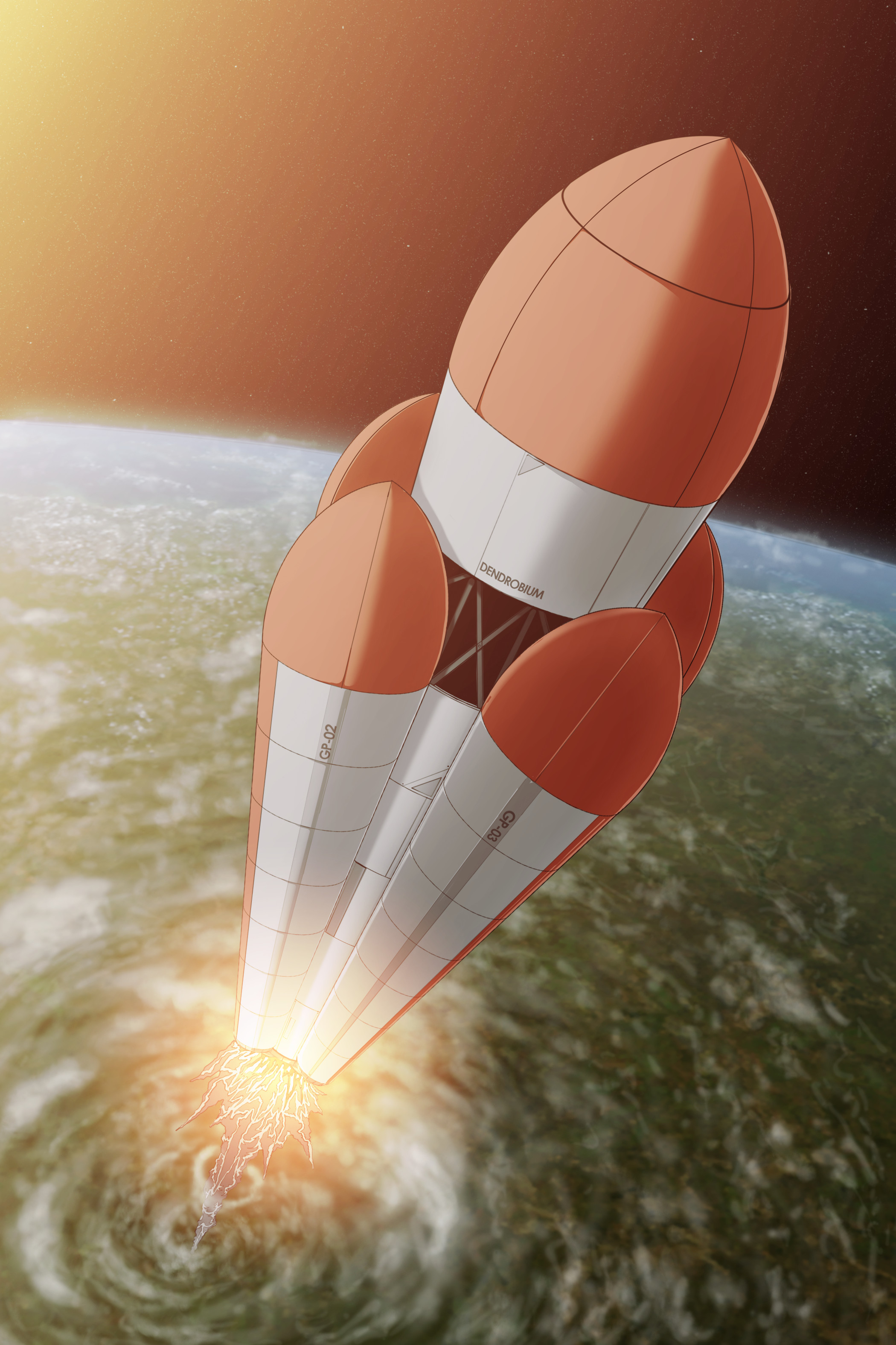 Launch of the Dendrobium Rocket