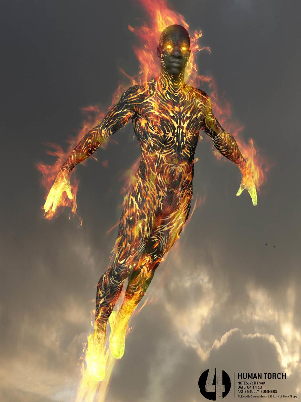 FANTASTIC FOUR (2015) Concept Art Reveals Alternate Takes ... |Fantastic Four 2015 Human Torch