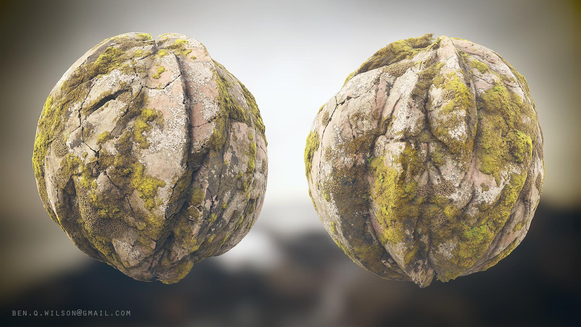 Ben wilson moss rock sphere a