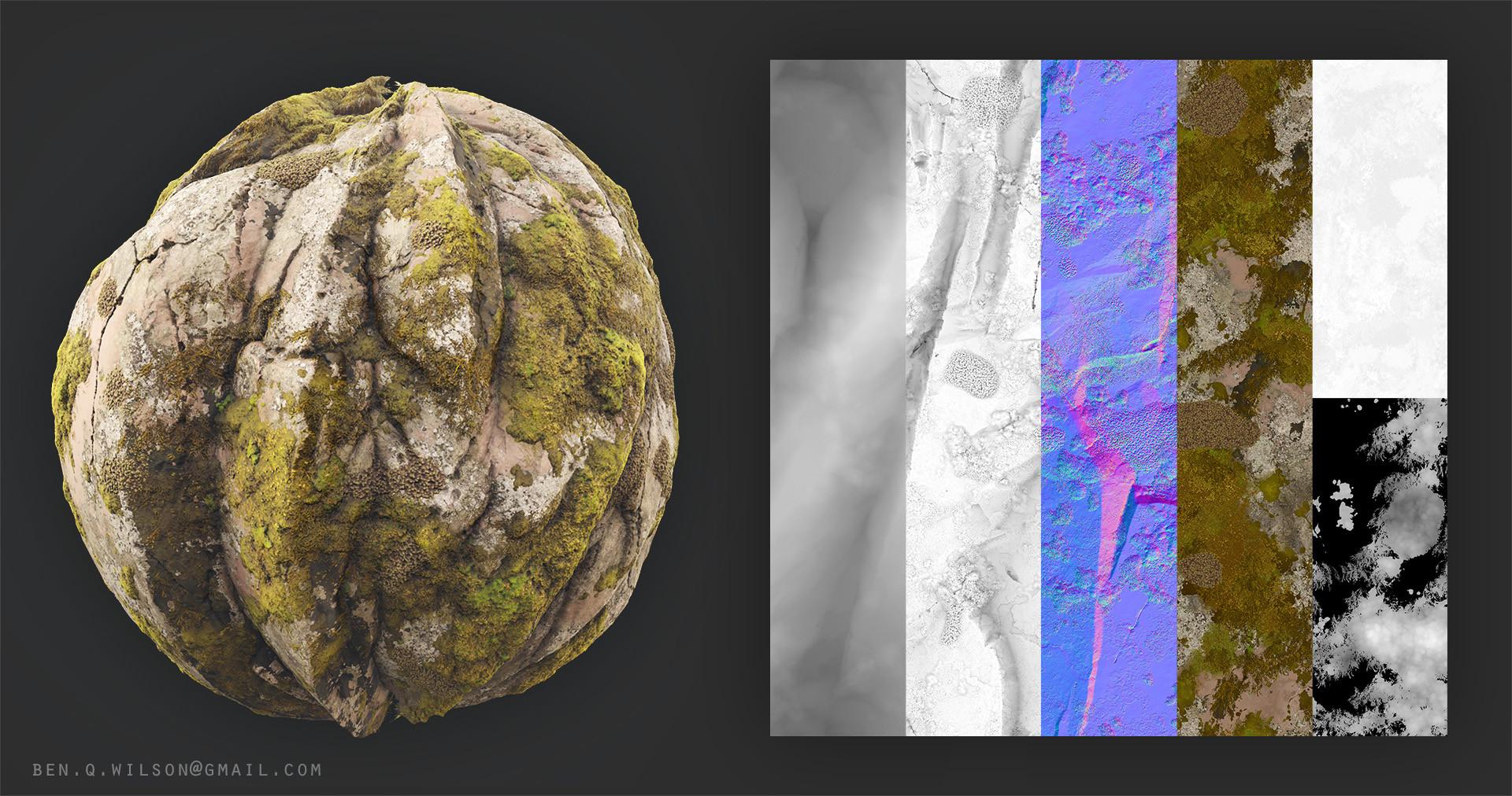 Ben wilson moss rock texture flats b