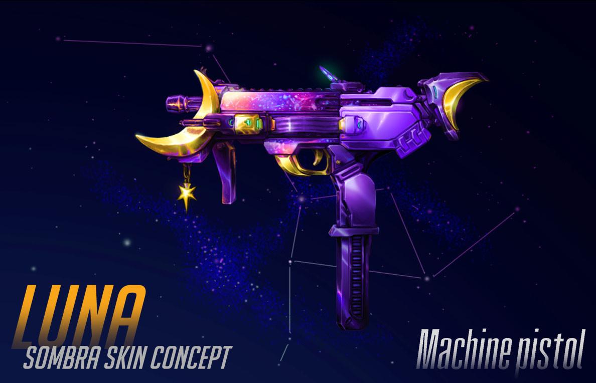 Camille Duguay Sombra Luna Skin Concept Machine Pistol