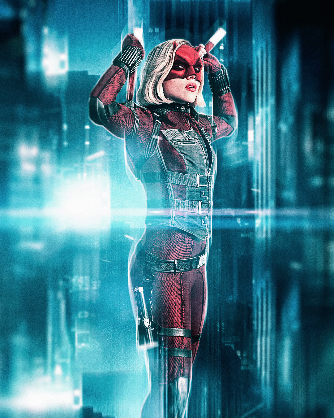 Black Widow x Daredevil mashup
