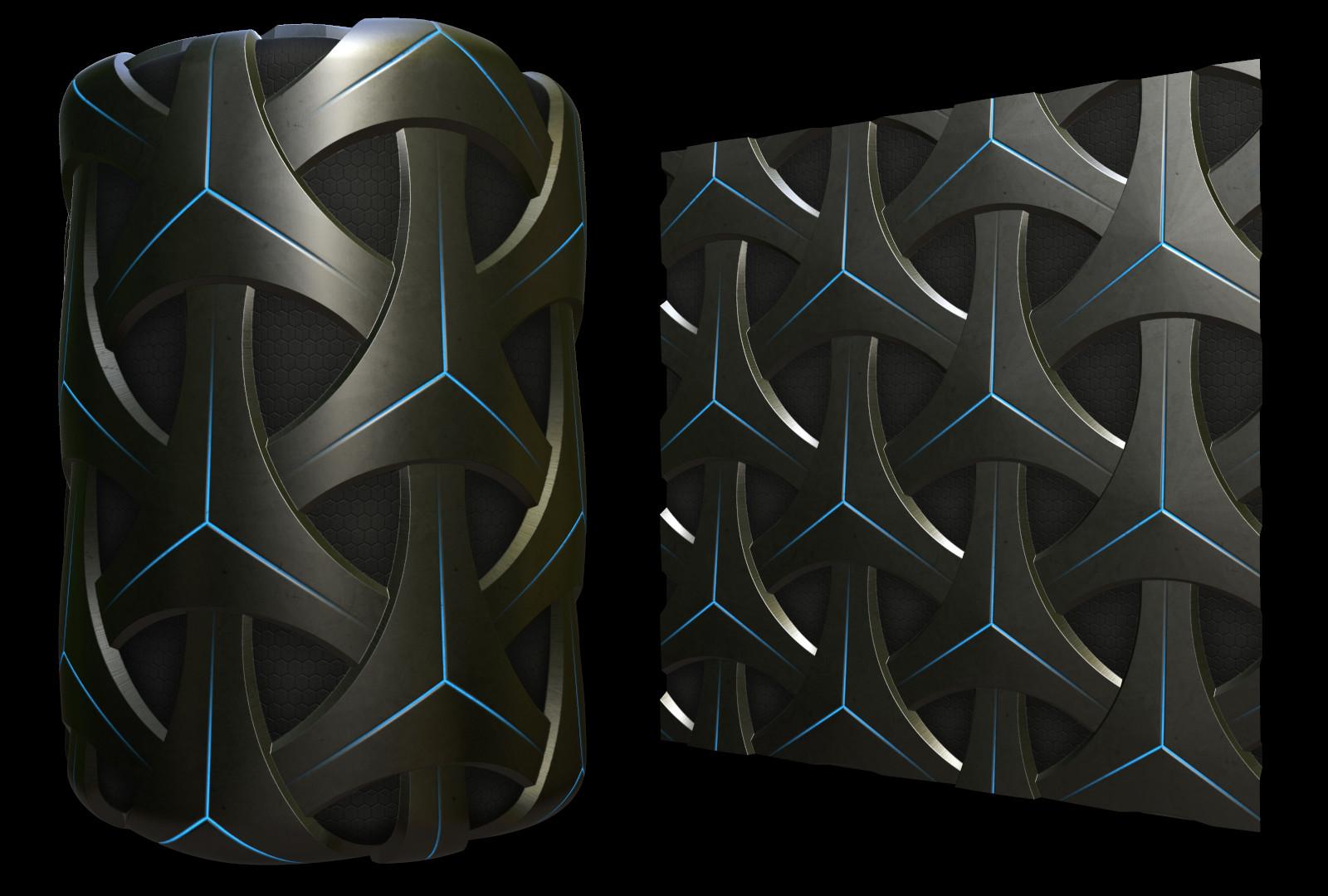 Sci-fi Metal Tiles Material