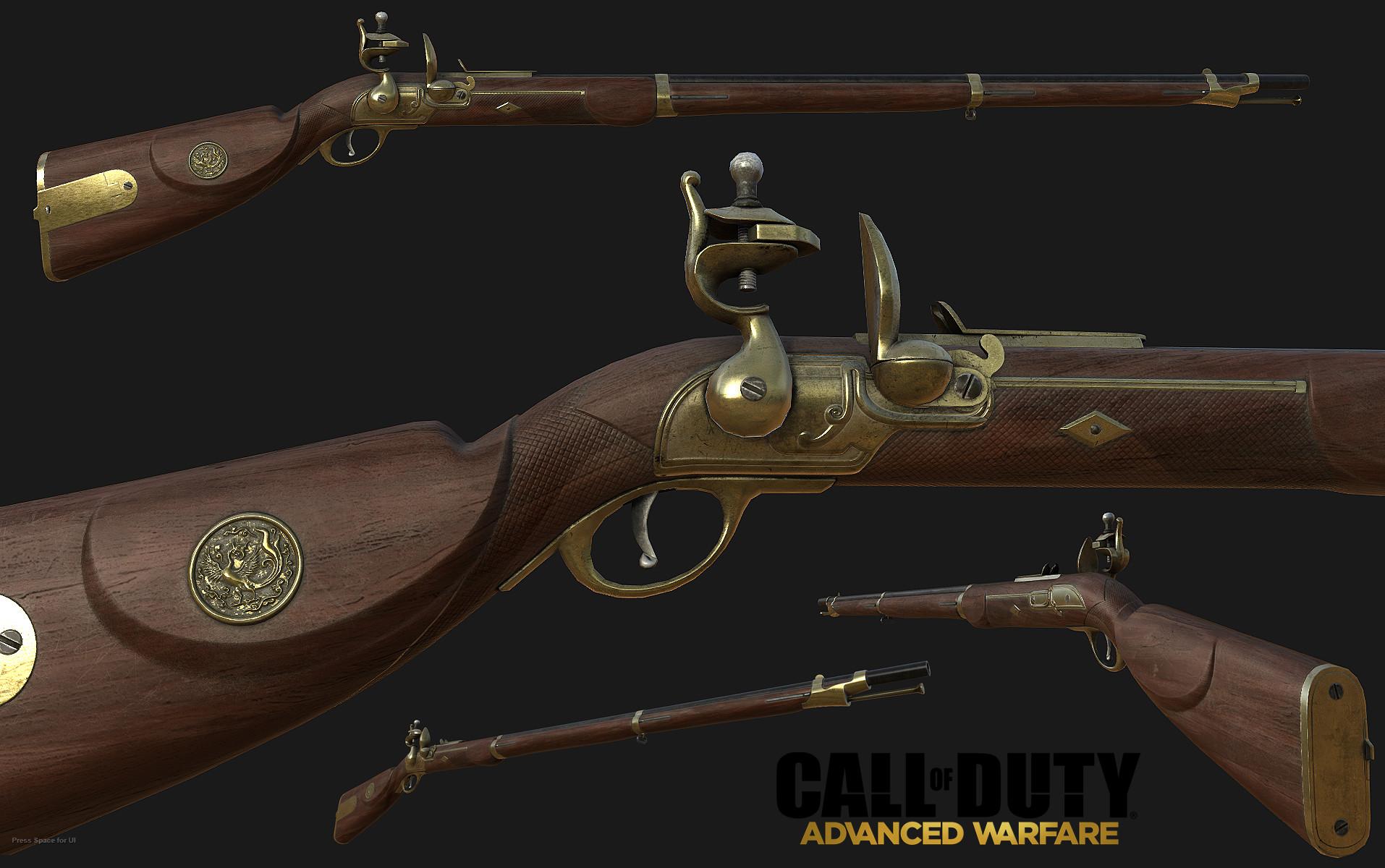 Artstation Call Of Duty Advanced Warfare Antique Musket Noe Serrano