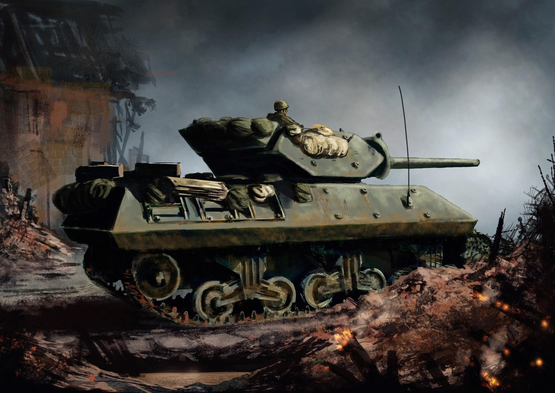 ArtStation - M10 Tank Destroyer - Aachen 1944, Pete Ashford