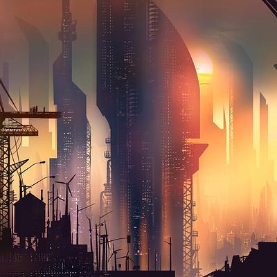 Aishwaary anant sci fi sunset
