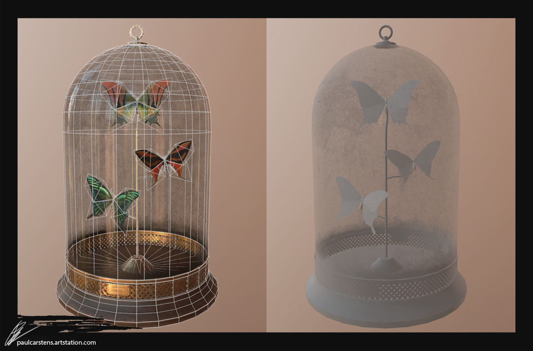 Butterfly Display Dome, 2472 tris.
