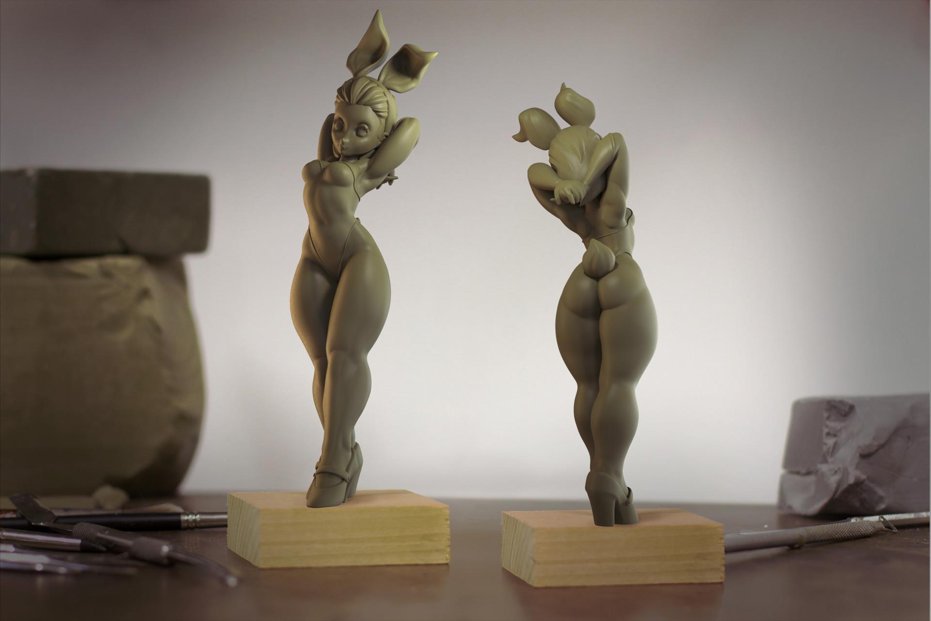 Leslie van den broeck nurzhanbunnygirl clay