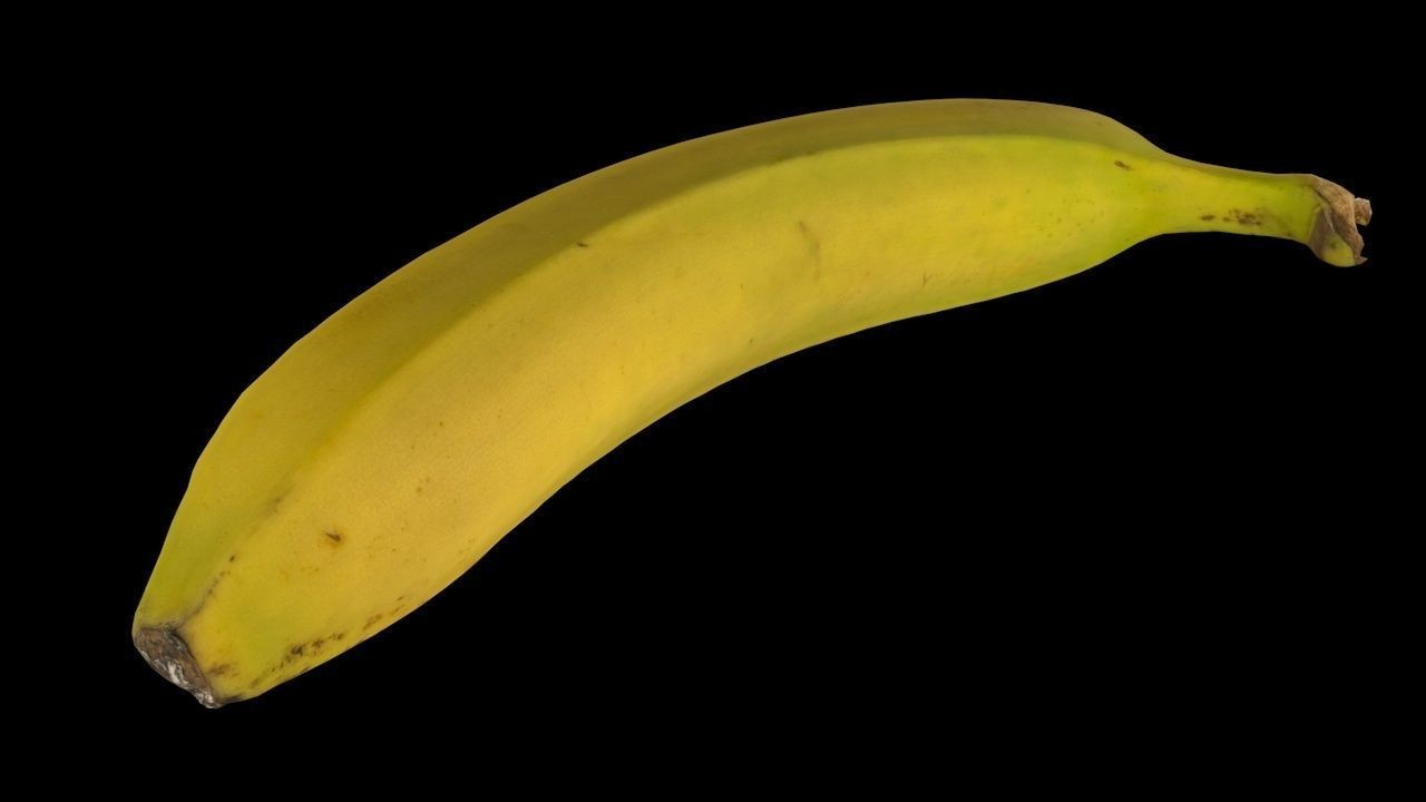 Carlos faustino banana 3d model low poly 1