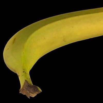 Carlos faustino banana 3d model low poly