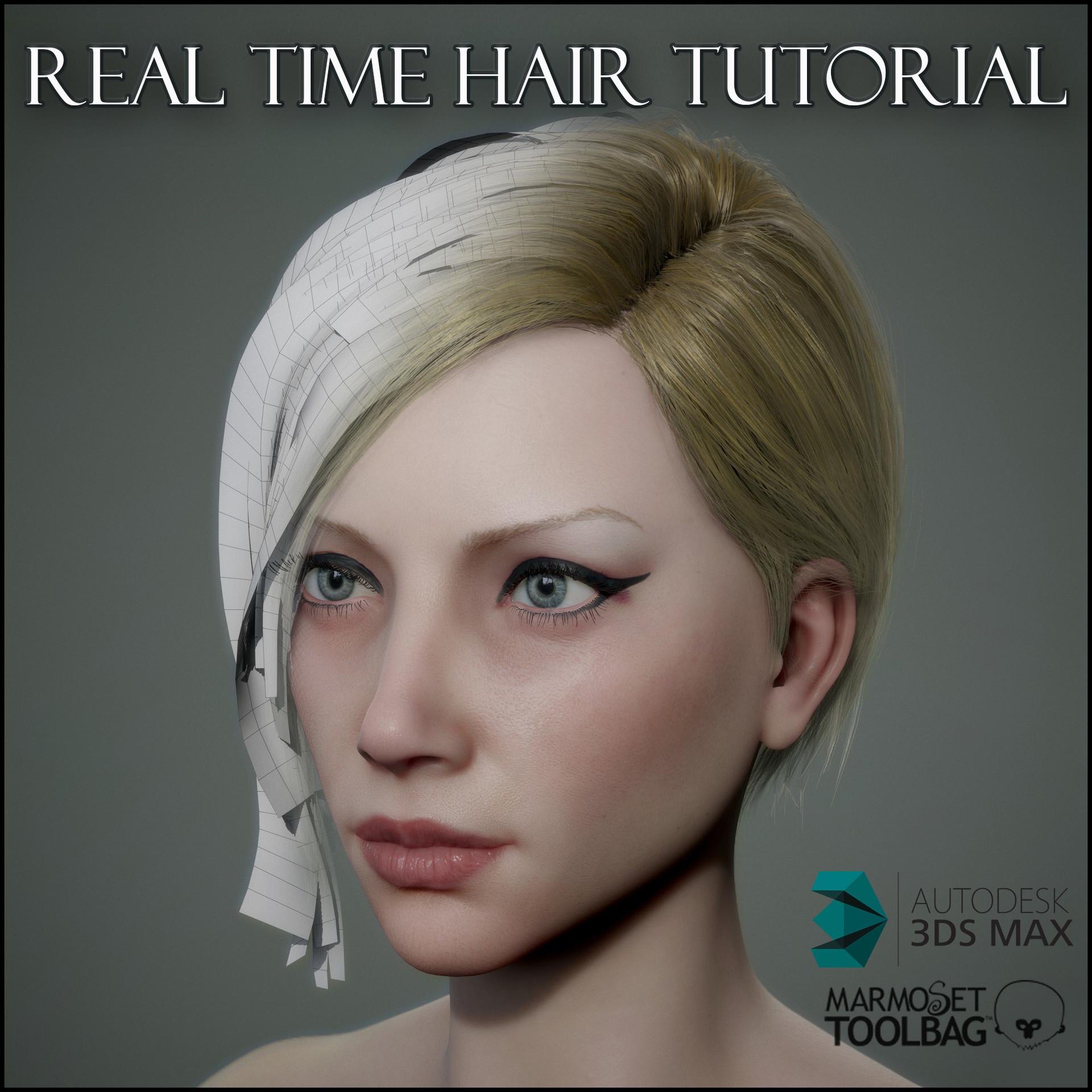 ArtStation Real Time Hair Tutorial Georgian Avasilcutei