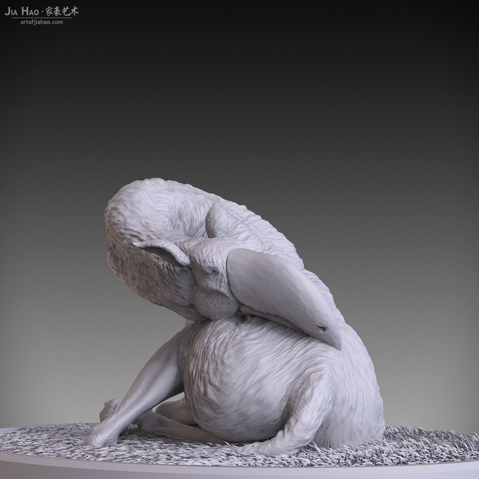 Jia hao 2017 toucaffesleeping digitalsculpting 03