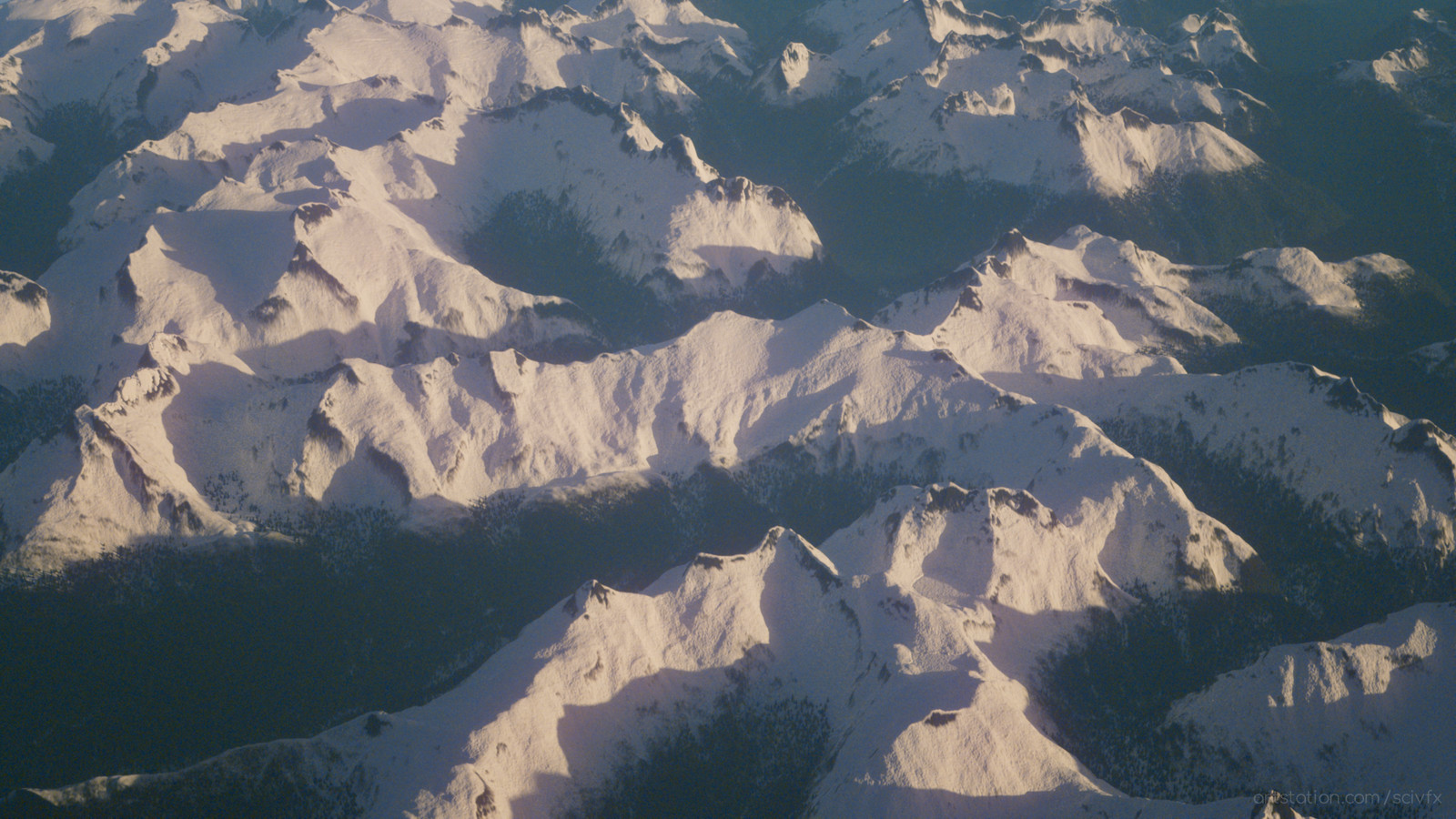 Alaska Blue Lake mountains, based on DEM but with elongated heights (render of #242)