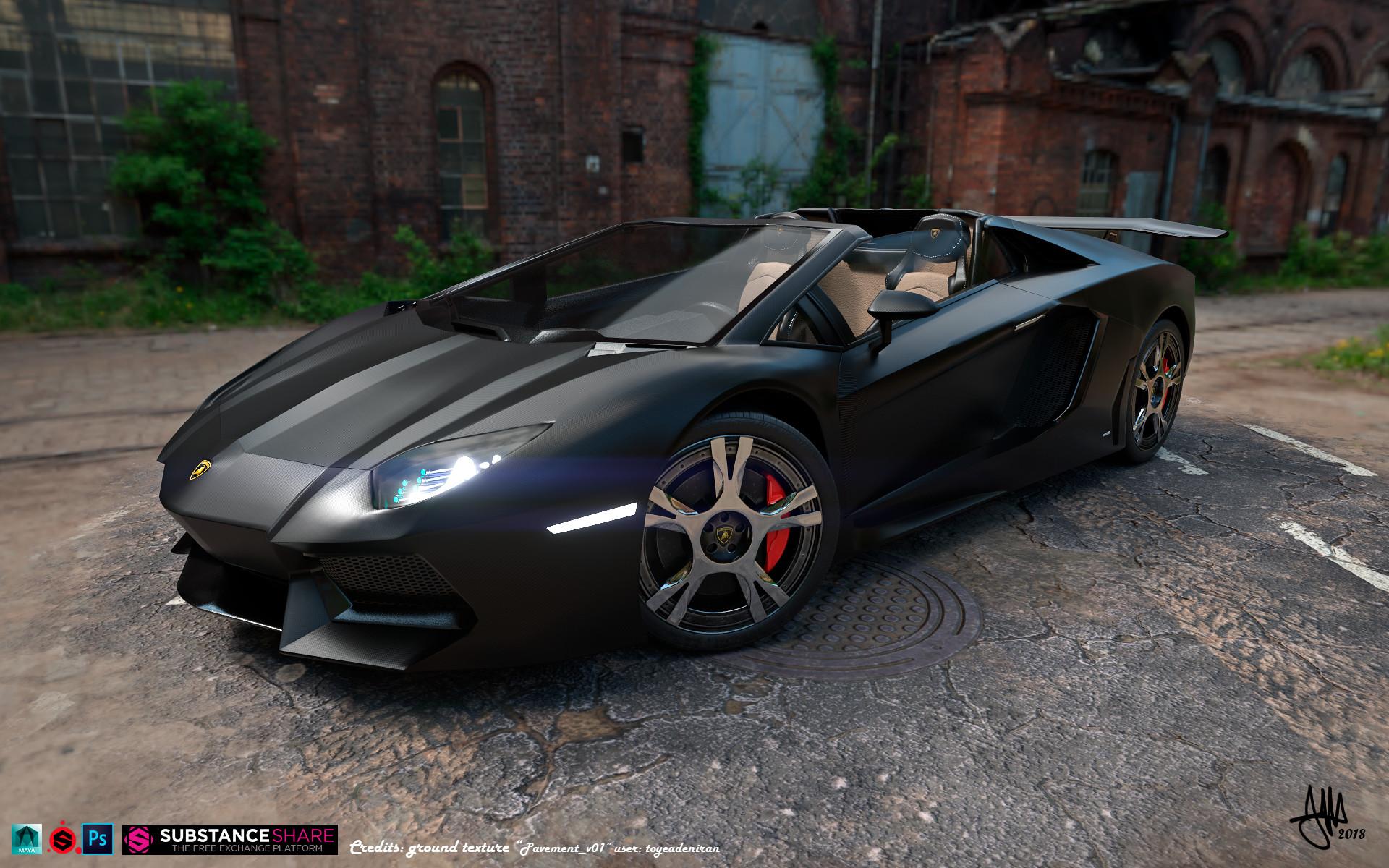 Santiago Vivanco Morillo Lamborghini Aventador Roadster 360 3d