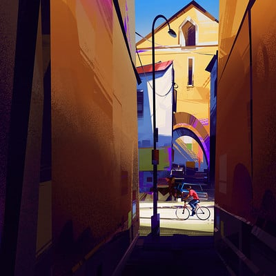 Michal sawtyruk sketch 52 color study street