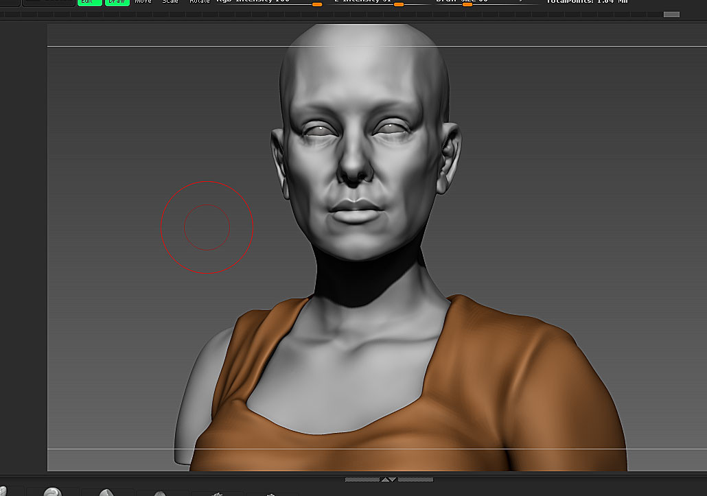 Sculpting in Zbrush