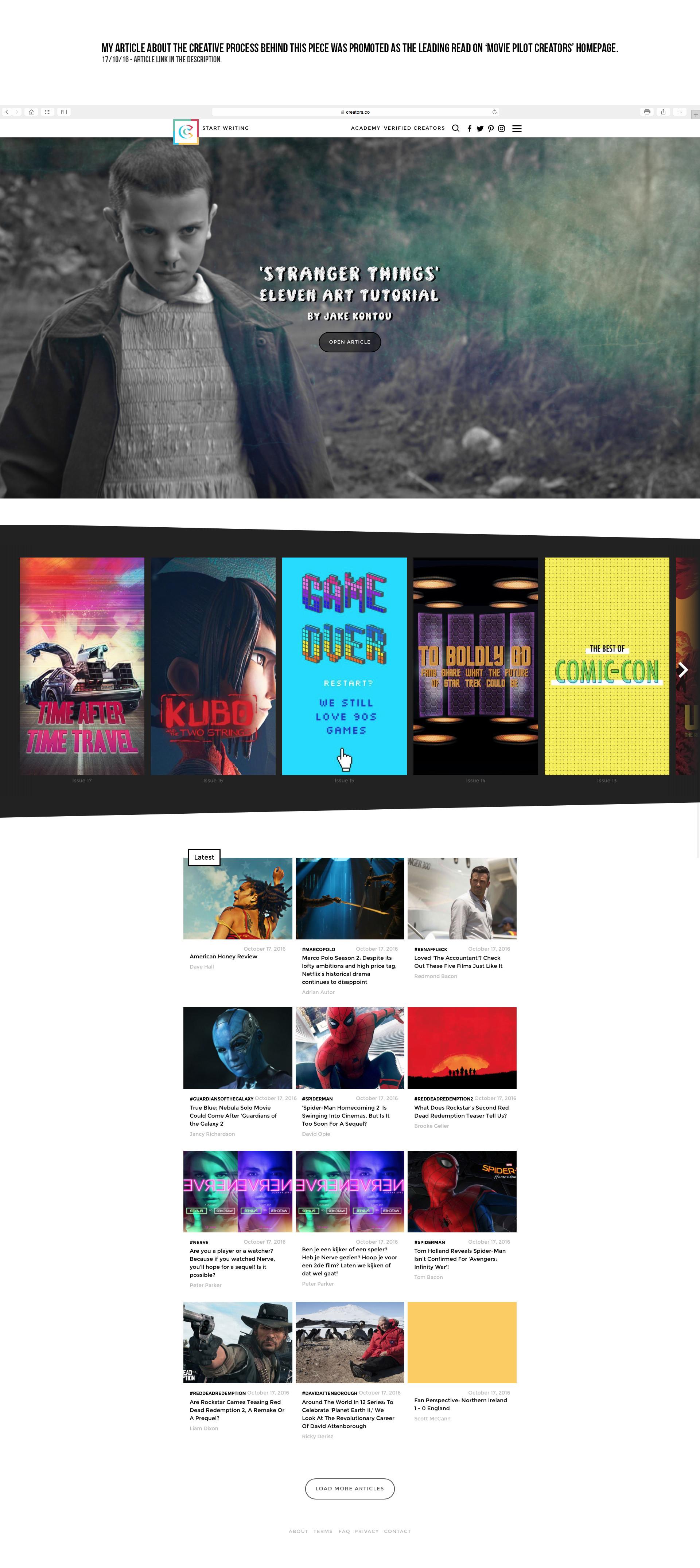 Jake kontou movie pilot homepage intro