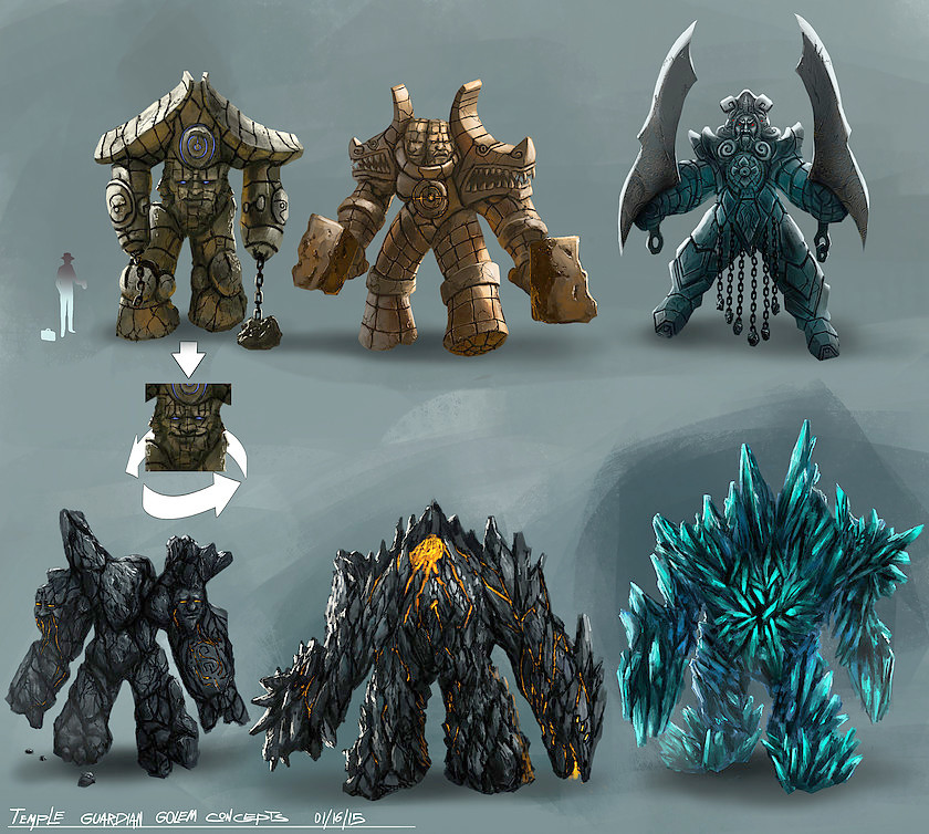 Guardian golems concept art