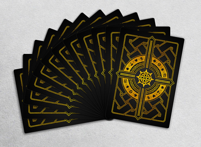Playing cards back design.