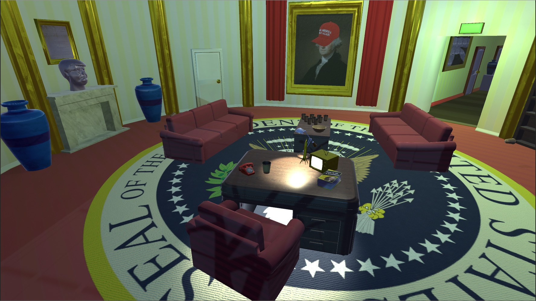 The oval office.