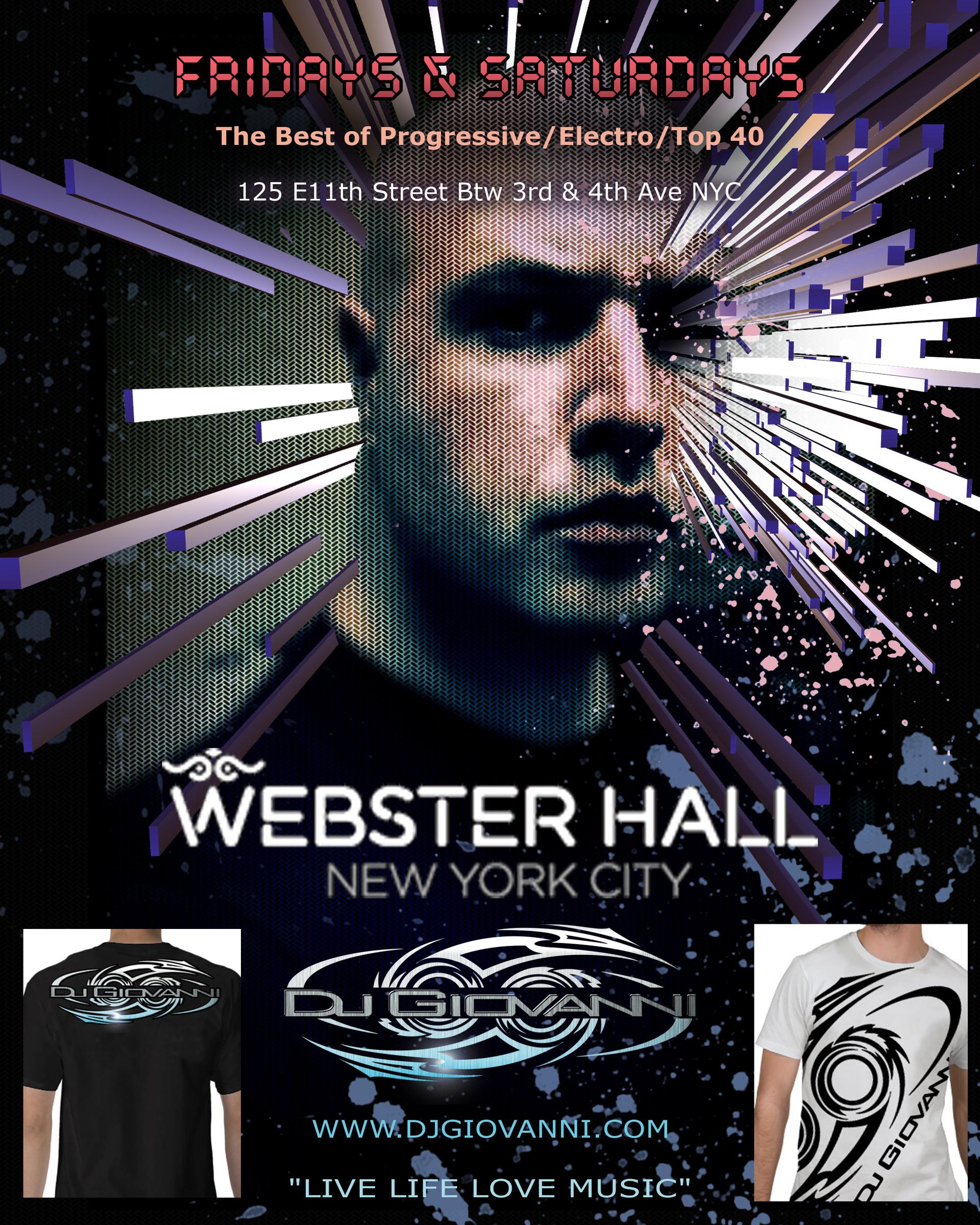 Poster Design For Webster Hall Event.