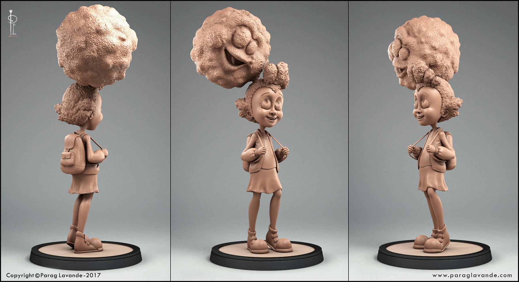 Parag lavande ppf girl clay renders