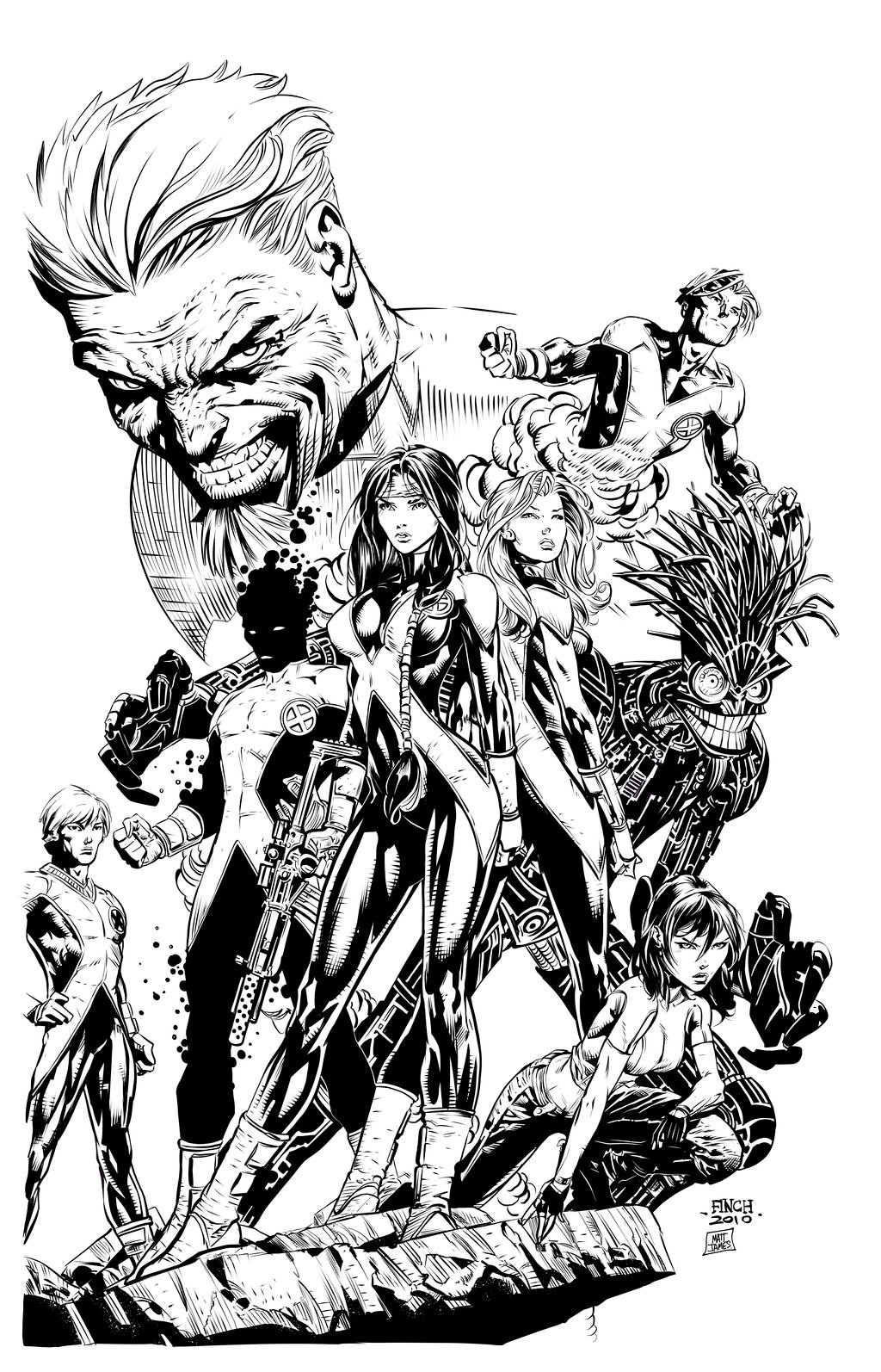 New Mutants 12 Cover (Fan Inks)