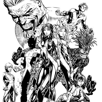 Matt james new mutants 12 cover fan inks by snakebitartstudio dbzg5u2