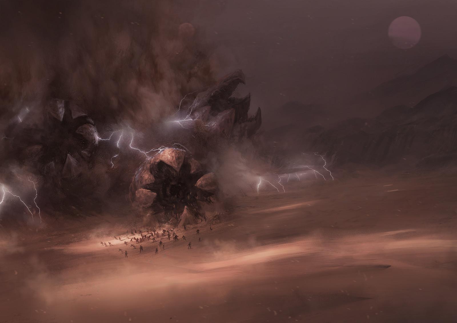 Interior Cover for Frank Herbert's Dune © Centipede Press