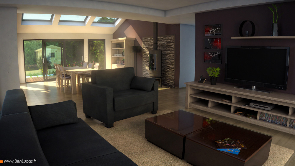 Marketing render of the living room