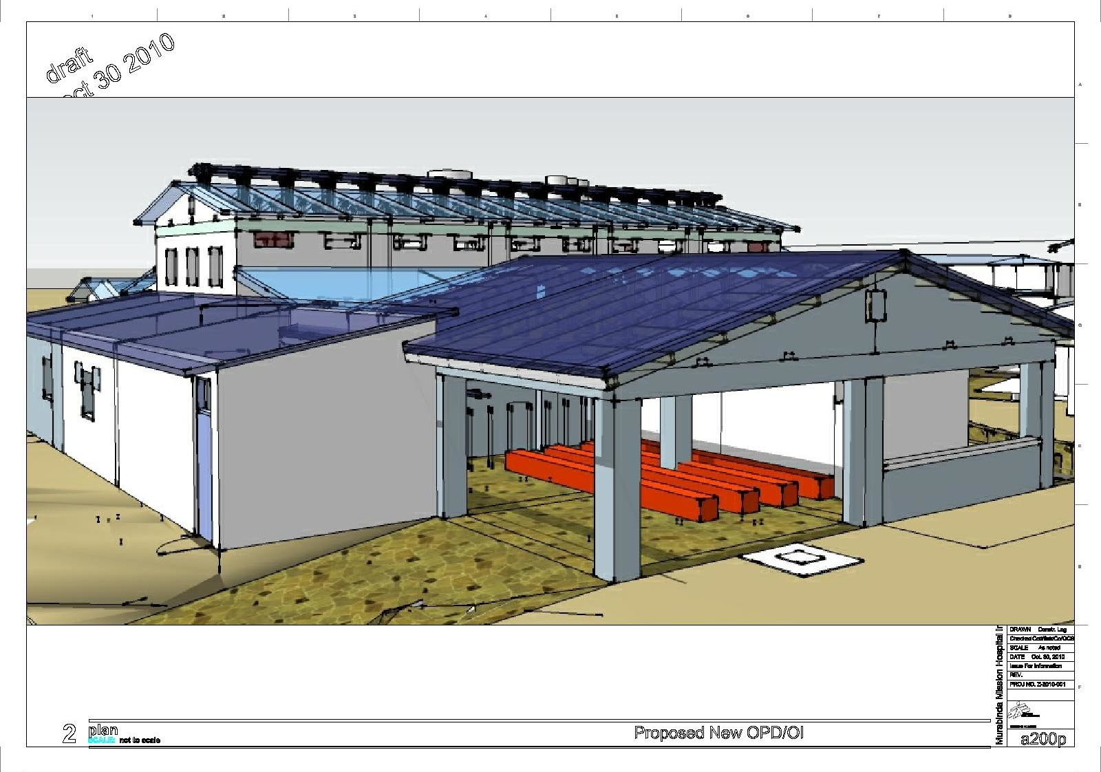 Proposed conceptual modifications to existing hospital.