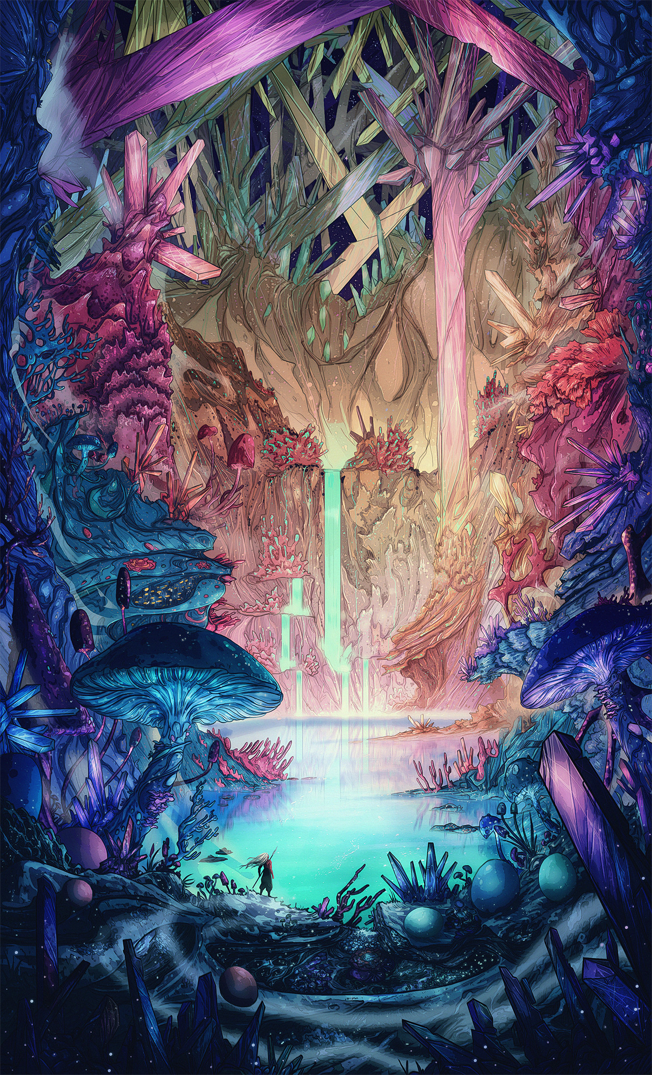 Christian benavides the cavern illustration sungmanitu final art