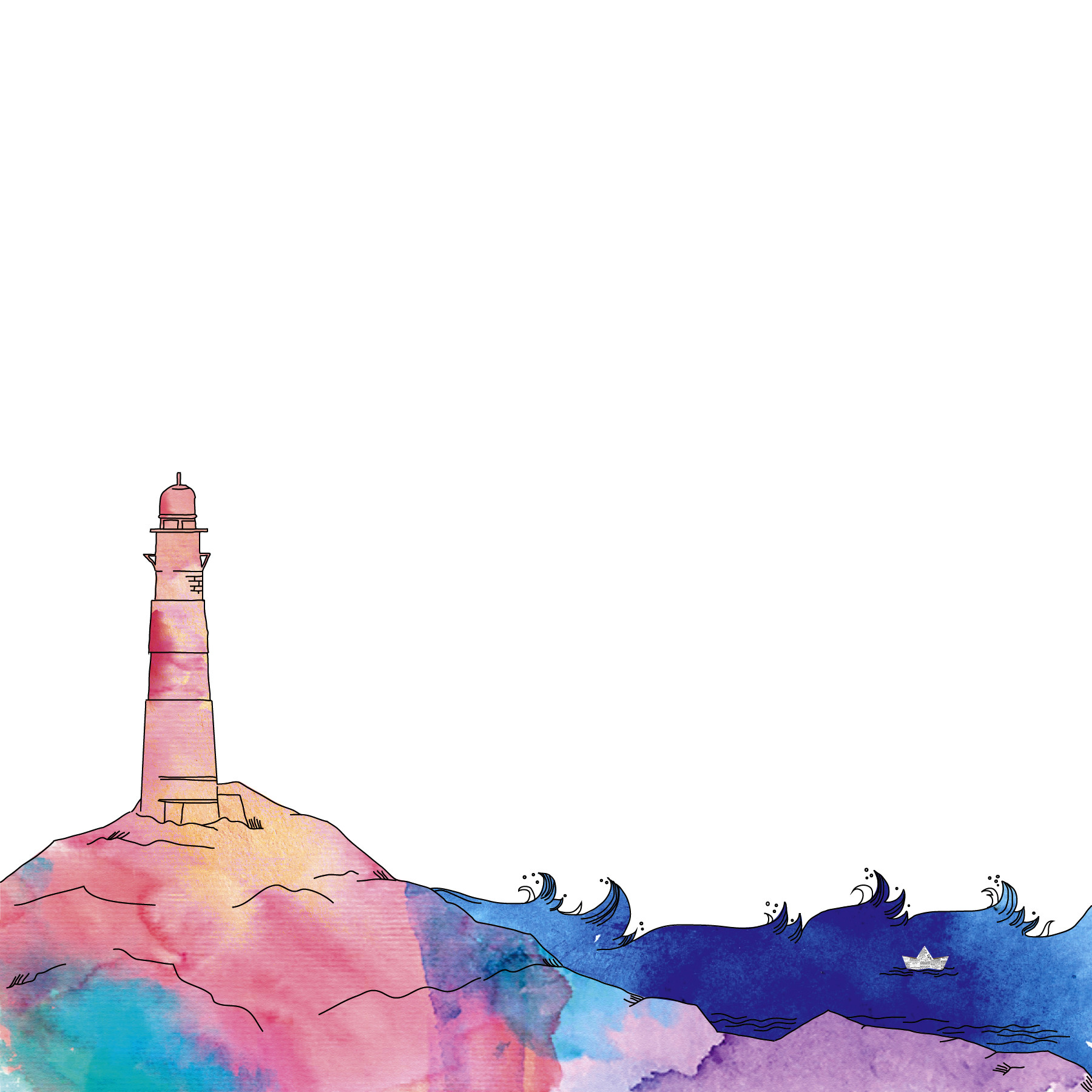 Rajesh r sawant watercolor lighthouse 01
