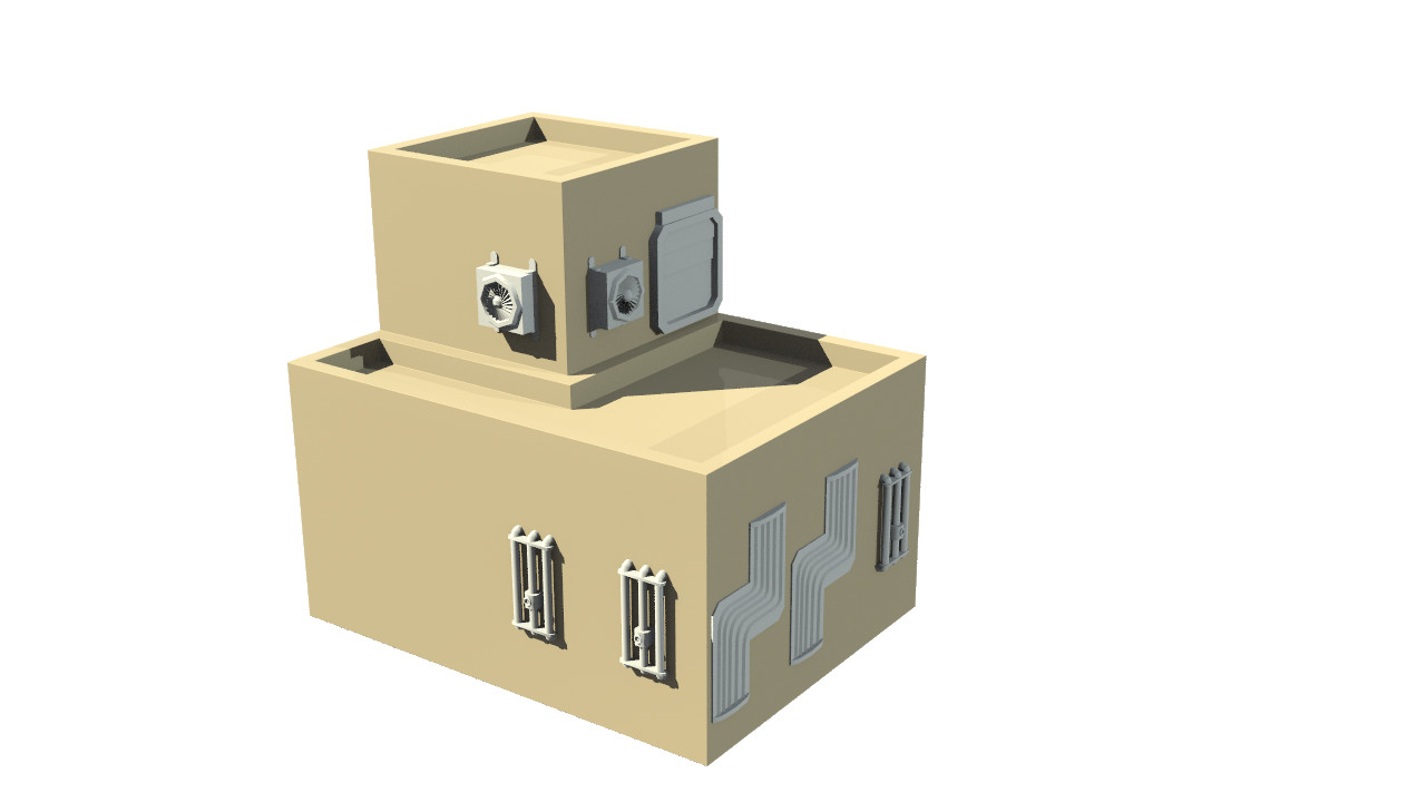 Render of the version 1 building generator output