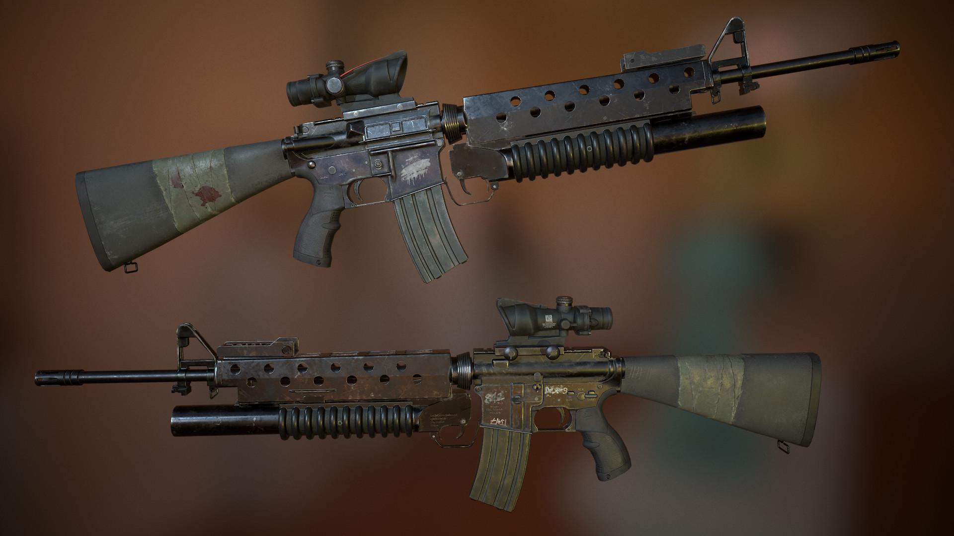sergey kunmay colt m16a4 rifle