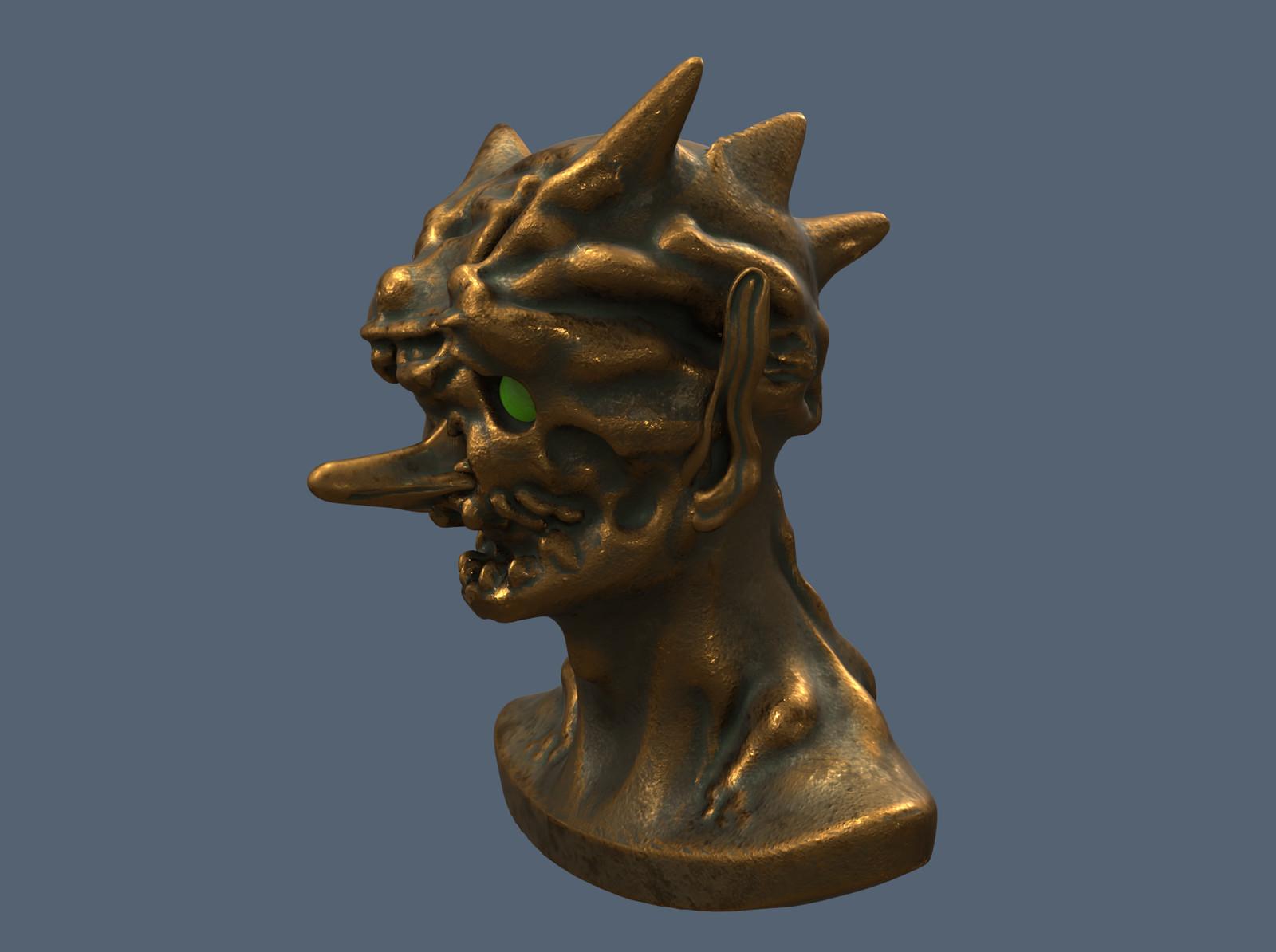 3D Sculpt before paint over