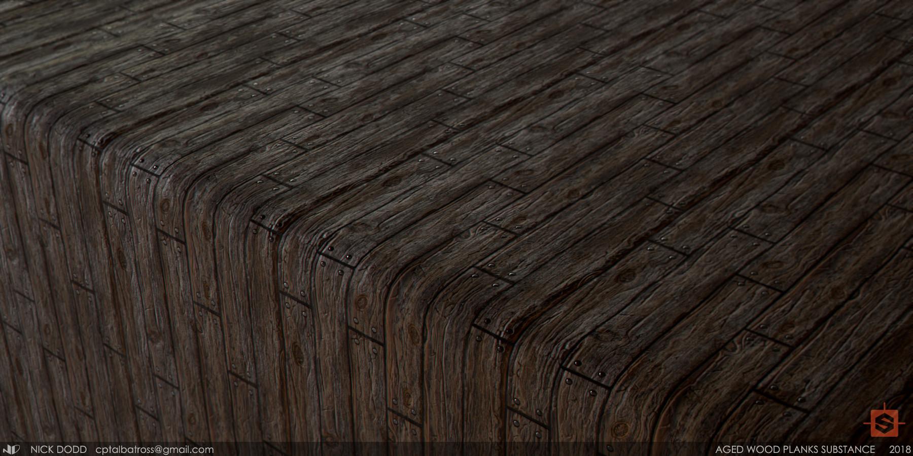 ArtStation - Aged Wooden Planks / Substance Designer, Nick Dodd