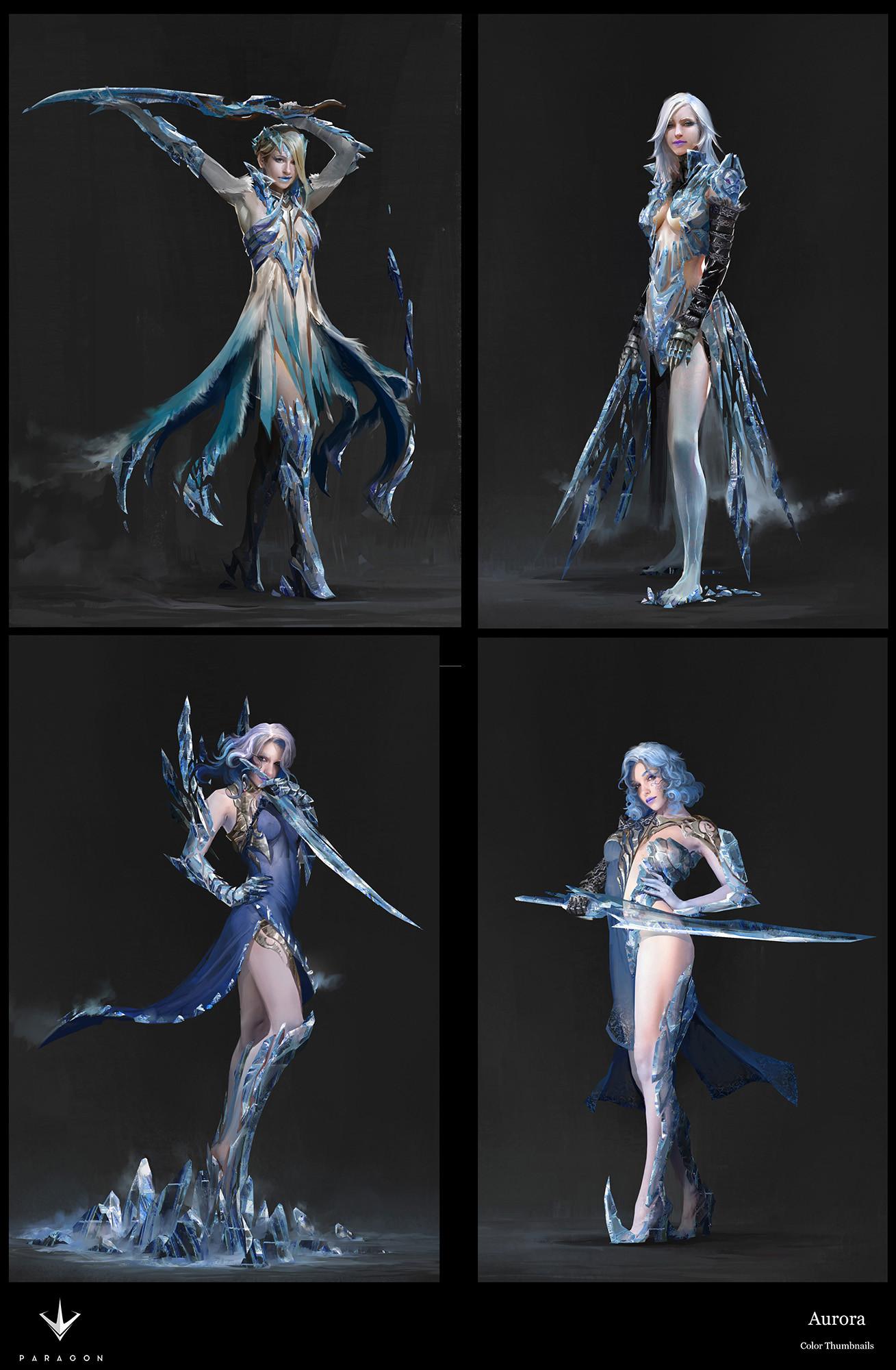 ArtStation - Paragon character Aurora designs, Herman Ng