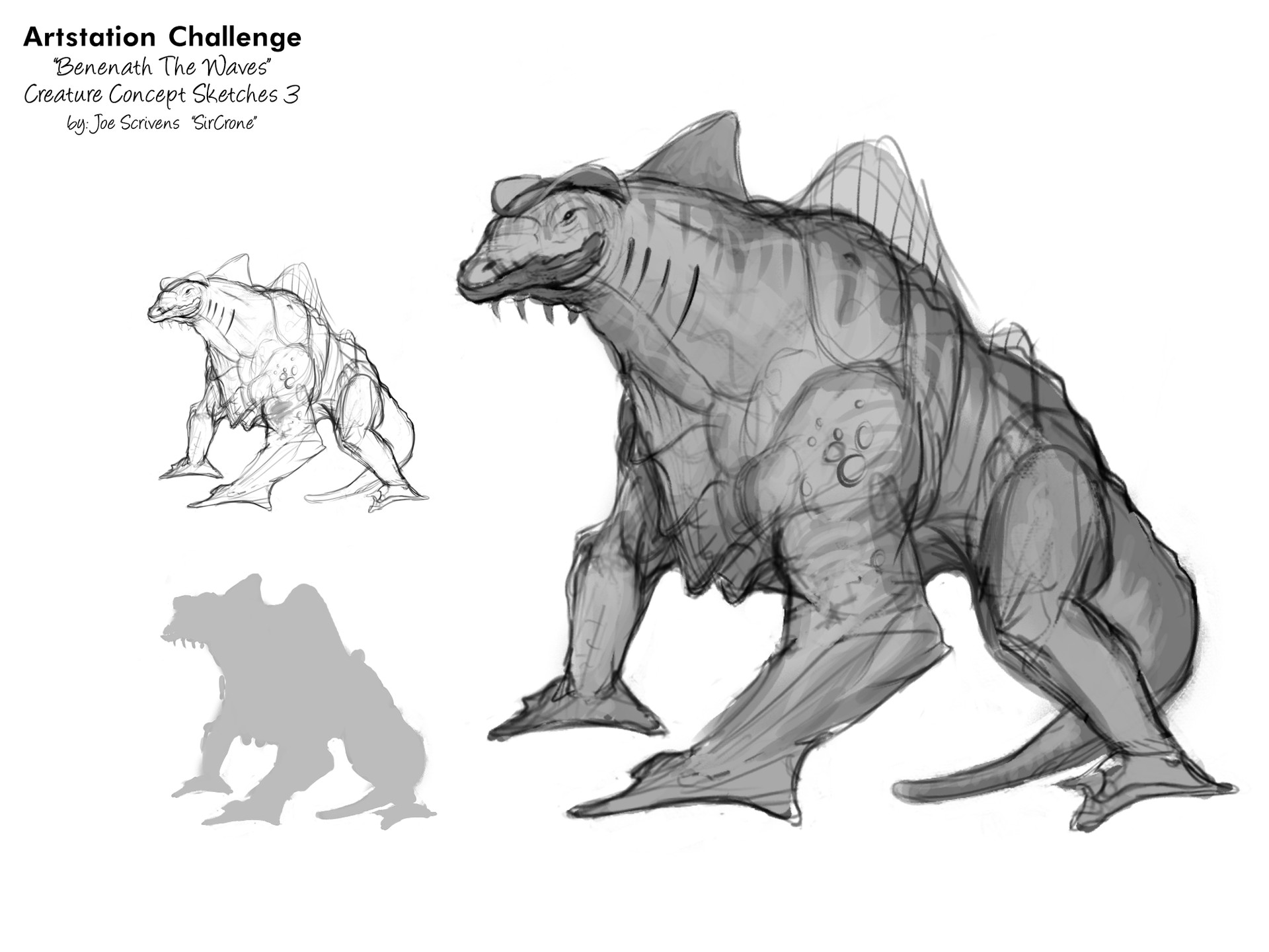 Joe scrivens beneath the waves creatures concepts 3