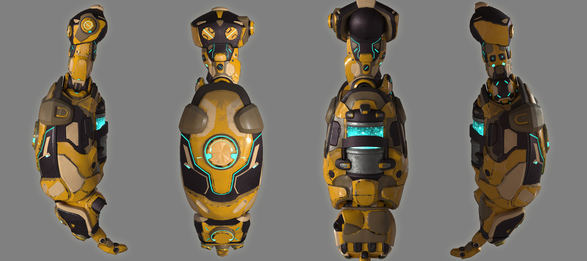 WIP render of arm re-design.